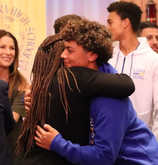 Serra Moms Celebrated at the Junior Mother-Son Mass