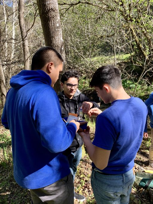Serra Students Measure Water Quality at San Mateo Creek