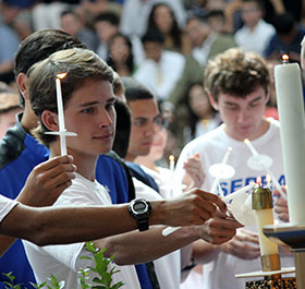 Campus ministry is immersive. Serra Padres are taught to give of themselves and treat people with dignity and compassion. Students of all faiths participate in community service locally and around the world.